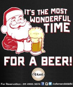 Christmas is a wonderfull time for drinking. Enjoy your festive week with variety of drink at Cafe Meraki. #cheerstobeer #wine #rum #cocktails #Christmaseve For reservation call on 011-49053074