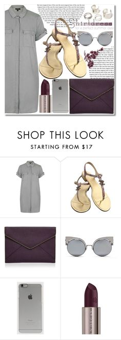 """It's a Shirtdress!"" by dazedandconfused ❤ liked on Polyvore featuring Topshop, Chanel, Rebecca Minkoff, Fendi, Incase, Urban Decay, shirtdress and fashionset"