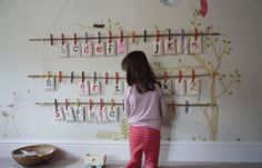 Fabric Alphabet Wall idea from book Growing Up Sew Liberated, photo from Sisters Guild blog.                                                                                                                                                     More