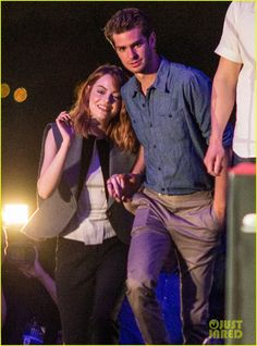 Emma Stone & Andrew Garfield Hold Hands at Earth Hour Kick-Off Event!