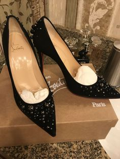 "Christian Louboutin Heels in ""Women's Clothing, Shoes and Heels"" Patent Heels, Suede Heels, Pumps, Christian Louboutin Sandals, Clearance Shoes, Mens Fashion Shoes, Slingback Sandal, Summer Dresses For Women"