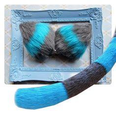 Tim Burton's Cheshire cat COSPLAY COMBO (Alice in wonderland inspired). $34.00, via Etsy.