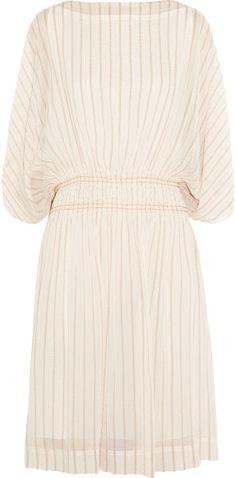 Love this: Smocked Silk-Blend Chiffon Dress @Lyst