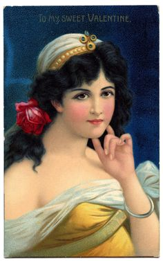 6 Vintage Valentine Lady Images! - The Graphics Fairy