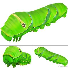 AmiAmi [Character & Hobby Shop] | Sofubi Toy Box 007. Caterpillar Asian Swallowtail 5th Instar Larvae Sofubi Figure(Released)