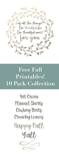 These printables are perfect for your fall home. With quotes and letters, these free art prints are a great, easy, budget DIY. Great wall d�cor and pretty designs for rustic, farmhouse style autumn decoration ideas for cheap!