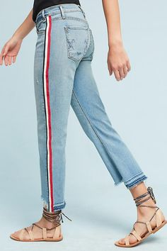 Slide View: 1: McGuire Ibiza Mid-Rise Cropped Skinny Jeans