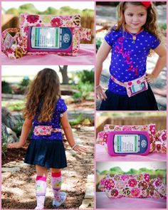 Girls Omnipod PDM pouch case!   So cute!