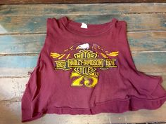 Vintage '75 Harley Davidson Crop by WeAreWitchy on Etsy