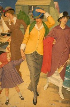 English artist, Joseph Edward Southall  (1861 –1944)  'Along the shore'