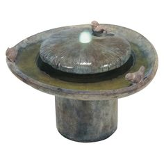 Henri Studio Birds of a Feather Outdoor Floor Fountain Sorrento Sandstone - 4012F-SR