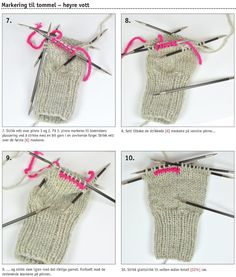 Learn to knit mittens Free Crochet, Knit Crochet, Crochet Stitch, Crochet Afghans, Mittens Pattern, Knit Mittens, Knitting Patterns, Crochet Patterns, Tricot