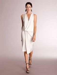 SLEEVELESS GEOMETRIC DRESS - Donna Karan