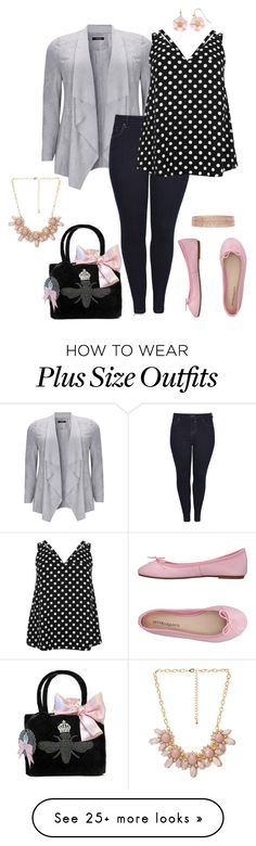 """Crazy little thing- plus size"" by gchamama on Polyvore featuring River Island, My Flat In London, ANNA BAIGUERA, LC Lauren Conrad, Accessorize and Forever 21"