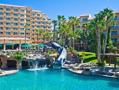 Villa del Palmar Beach Resort & Spa is a five-star, upscale resort set on the world-famous Médano Beach, featuring the grandest spa in Cabo San Lucas. Mexico Resorts, Beach Resorts, Resort Villa, Resort Spa, Dream Vacations, Vacation Spots, Places To Travel, Places To Go, Cabo San Lucas Mexico