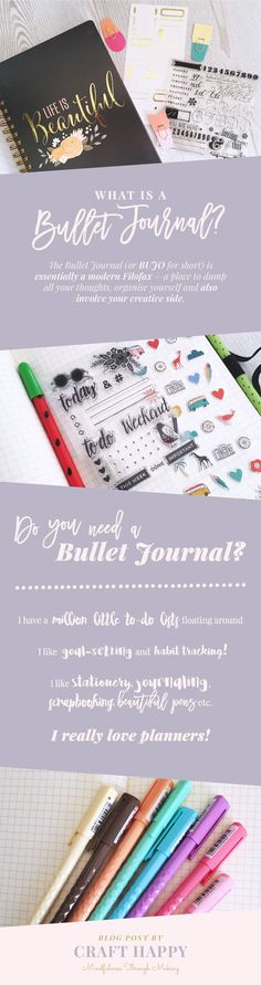 Awesome guide to bullet journals. What is a bullet journal. What are bullet journals used for. Why do I need a bullet journal in my life. How can I start a bullet journal.