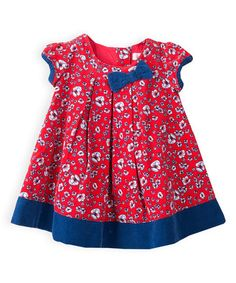 Another great find on #zulily! Love Heart Red Floral Pleated A-Line Dress #zulilyfinds