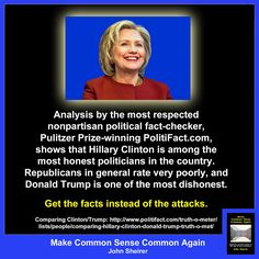 Hillary honesty | Make Common Sense Common Again: Hillary Clinton is far more…