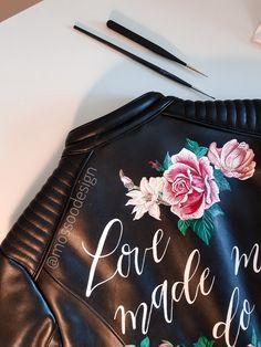 Mossoo bridal jacket! @mossoodesign #handpainted #bridaljacket #bohobride #bride #trashthedress Painting Leather, Boho Bride, Close Up, Bridal Jackets, Hand Painted, Detail, Instagram