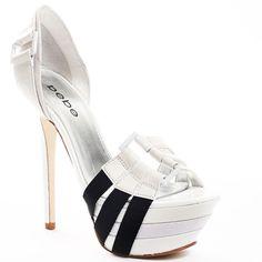 Bebe Shoes Belinda - White by None, via Polyvore