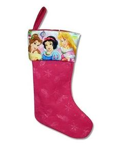 Disney Princess Profile Satin-Cuff Felt Stocking