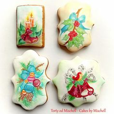 Hand painted christmas gingerbread - cookie by Mischell