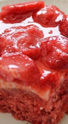 Strawberry Wet Cake