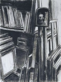 Self portrait with paintings, by Rick Amor :: The Collection :: Art Gallery NSW Australian Artists, Pencil Illustration, Various Artists, Drawing Reference, Cool Artwork, Art Gallery, Sketches, Paintings, Fine Art