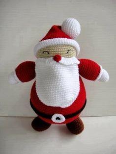 Patrón de un amigurumi de Papá Noel...
