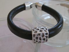 Dark Brown Mens Leather Bracelet by maylui on Etsy, $25.00