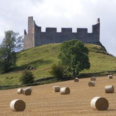 Hume Castle, Scotland. The castle is open all year and free to visit. During the winter months the key for the door is available from the key keeper at West End Cottage, the castle offers stunning panoramic views from it's viewing platform