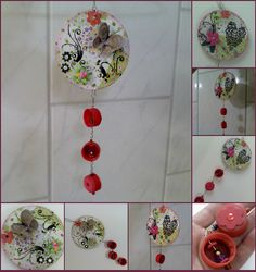 Mandala -Reciclagem de Tampinhas by jojackie, via Flickr