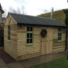 find this pin and more on workshops posh sheds garden sheds garden storage by birchtreeco0667