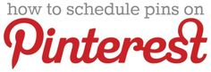 how to schedule pins on pinterest