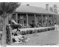 Fuller Lodge in 1942. Photo courtesy of LANL.