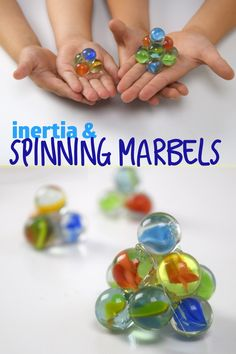 Learn about inertia with spinning marbles!  It's physics in action -   #Spon #SylvanEdge
