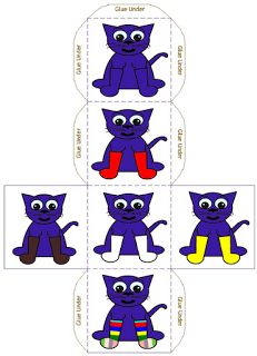pete the cat -my white shoes- dice for graphing