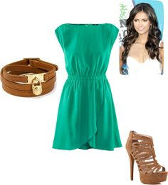 """""""Green and Brown"""" by jordyn-adams on Polyvore"""