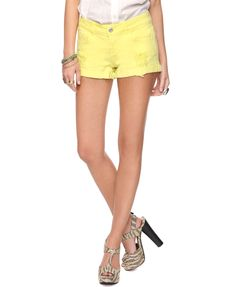 Colored Distressed Denim Shorts  $15.80