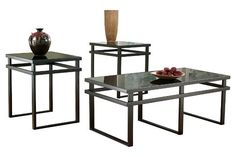 Laney Table (Set of 3) by Ashley HomeStore, Black