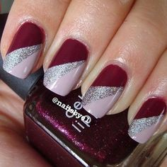 nails Related posts: # Christmas nails Gorgeous Nail Art Ideas for Spring Nails – Page 67 of 99 – 43 beautiful nail art designs for sarong nails … Fancy Nails, Red Nails, Cute Nails, Pretty Nails, Hair And Nails, Sliver Nails, Fingernail Designs, Gel Nail Designs, Nails Design