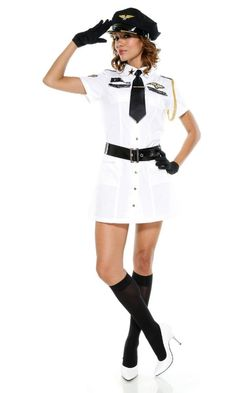 Topshow Women's Fashion Sexy Night Long Sleeves Cosplay Navy Uniform Dress Complete a head-to-toe look with the most fashionable clothing. Sailor Costumes, Girl Costumes, Costumes For Women, Costume Ideas, Adult Costumes, Cop Costume, Captain Costume, White Costumes, Beauty