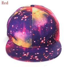 New Galaxy Print Hip-hop Cap Snap back Baseball Flat Peak Adjustable Hat Unisex