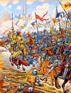 Charge of the French knights at Patay, Hundred Years War