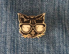 "Lil' Cool Cat--1"" lapel pin"
