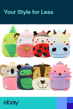 Animal Backpacks, Kids Backpacks, Cartoon Zoo Animals, 3d Cartoon, School Bags For Girls, Cute Plush, Childrens Gifts, Kids Store, Kids Bags