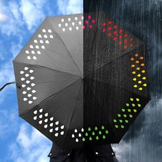 A color changing umbrella! So freaking cool.