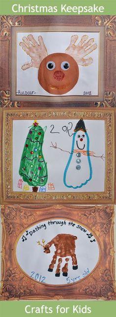 Handprint & Footprint Christmas Crafts for Kids