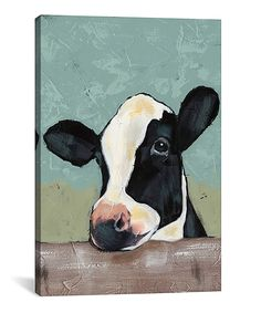 Take a look at this Holstein Cow II Wrapped Canvas today!