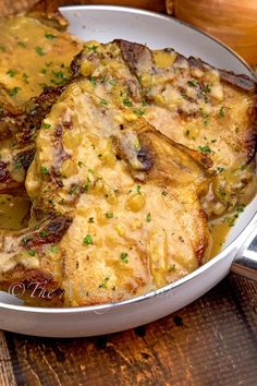 Why not start with this yummy herb braised pork chop recipe! Covered with a creamy onion gravy, this dish is packed with delicious flavors. Braised Pork Chops, Pork Chops And Gravy, Pork Loin Chops, Pork Roast Recipes, Meat Recipes, Cooking Recipes, Entree Recipes, Lunch Recipes, Dinner Recipes